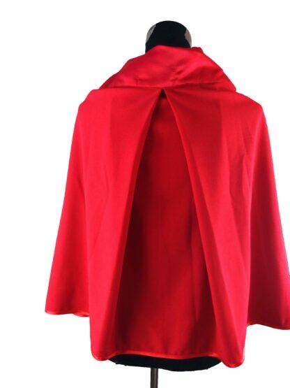 cape petit chaperon rouge accessoire de cérémonie a l'atelier de la couture