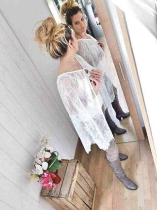 cape de mariée en dentelle