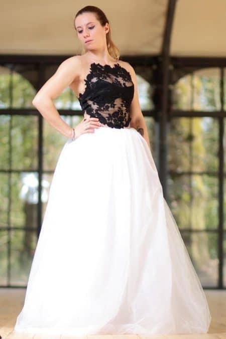 Robe de Mariée noir et blanche
