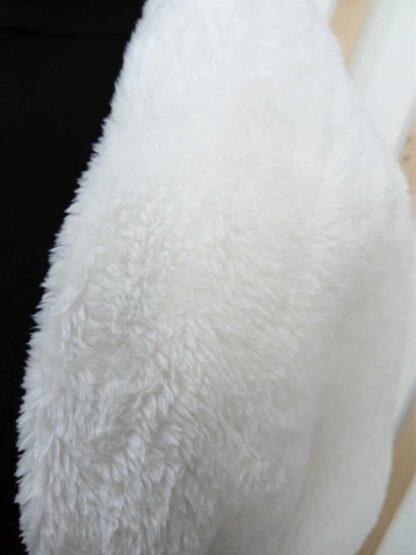 chauffe épaule, Cache épaule en fausse fourrure Blanche