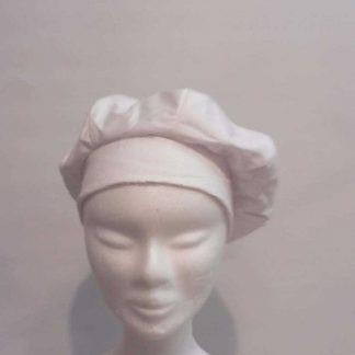 chapeau, casquette, bibi, béret en sky blanc froissé