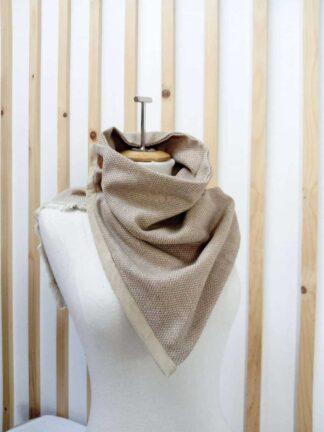 Col en laine chiné beige
