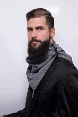 Col en lainage gris chiné