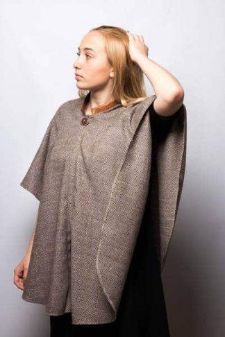 Poncho Cape en laine Tweed so british
