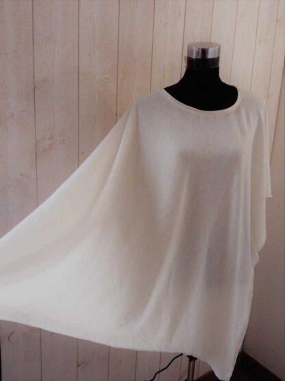 jersey ivoire-poncho en laine