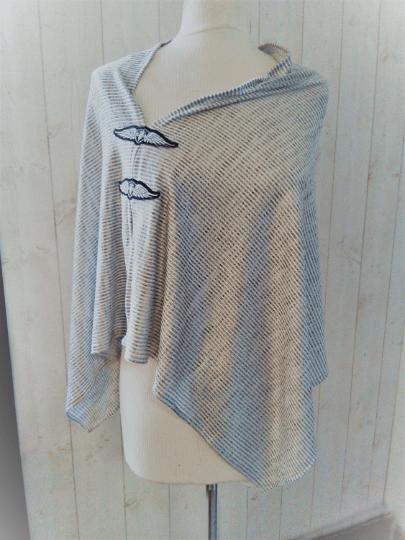 Poncho Femme Jersey gris argente