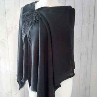 Poncho Femme en Jersey Noir