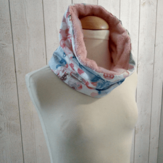 Snood Fille en Polaire Rose