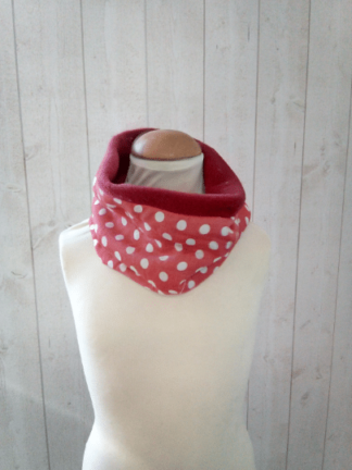 col polaire snood fille