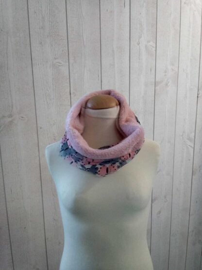 polaire rose snood
