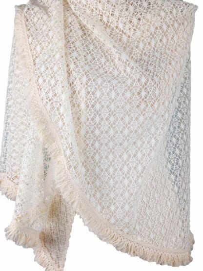 étole châle de mariée étole ivoire en crochet alatelierdelacouture.com