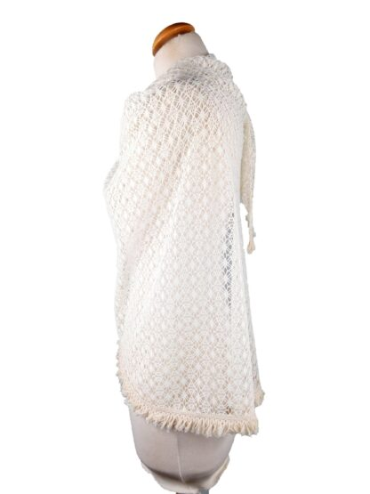 étole ivoire en crochet étole robe de mariée alatelierdelacouture.com