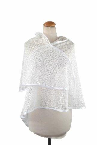 Étole en crochet ivoire Accessoires de la mariée