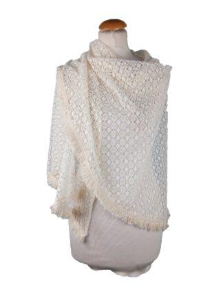 Étole ivoire en crochet Châle ivoire