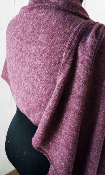 châle bordeaux en jersey