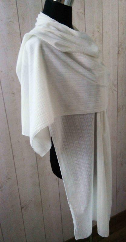 châle en jersey blanc