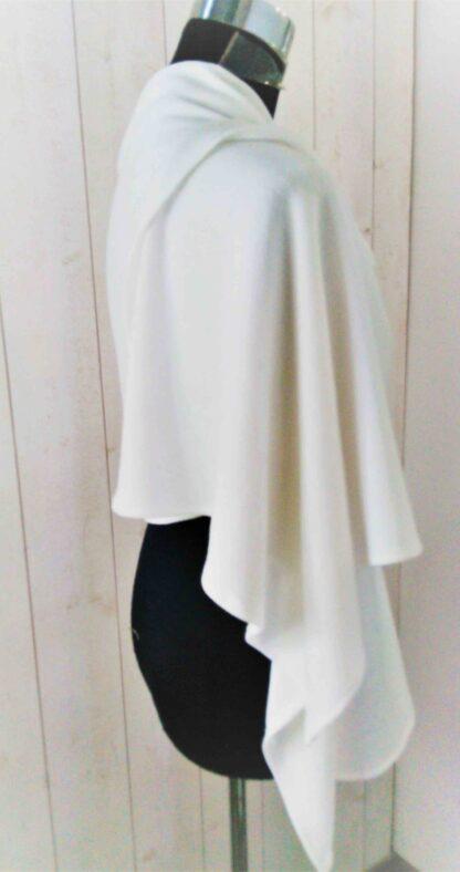 étole de mariage blanche, châle blanc en maille
