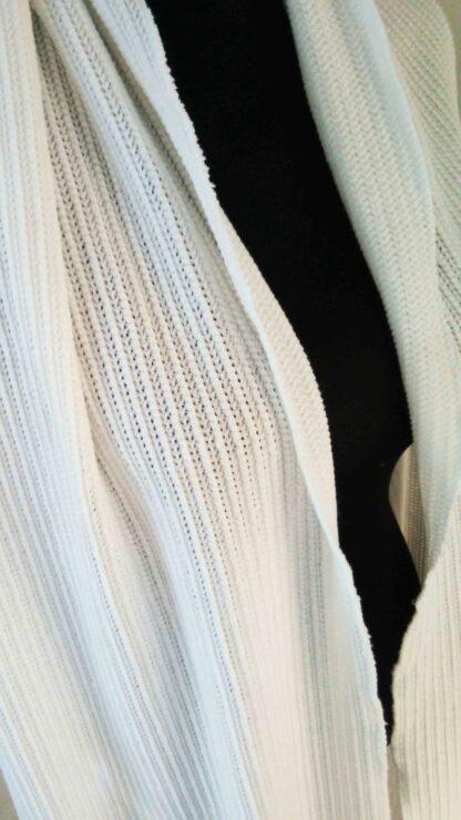 châle en grosse maille de jersey