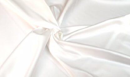 boléro de mariage en satin duchesse blanc