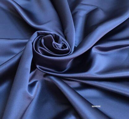 Boléro de Mariage satin duchesse bleu marine