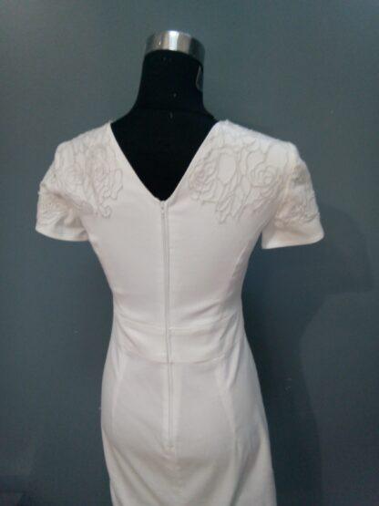robe de mariée en coton blanc, robe de mariage civile, robe de mariée