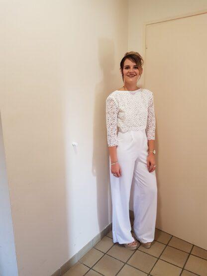 combinaison mariage, combi mariée, alternative à la robe de mariée la combinaison blanche pour se marier