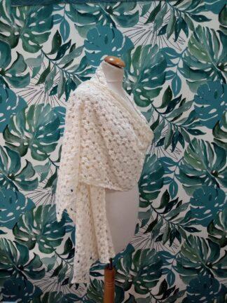 Chale crochet , Etole crochet ivoire